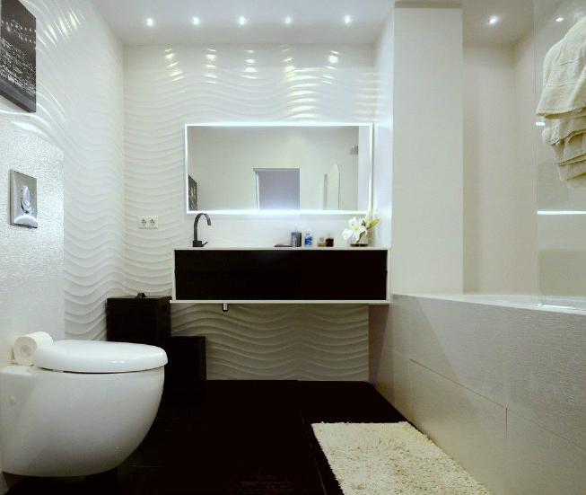 ванна в стиле минимализм освещение
