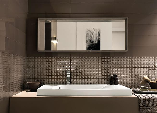 стильная ванна в стиле минимализм