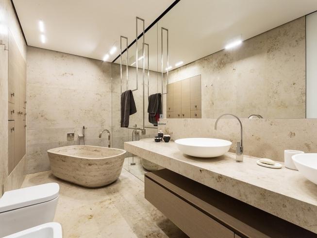стильная ванная комната 11 кв м