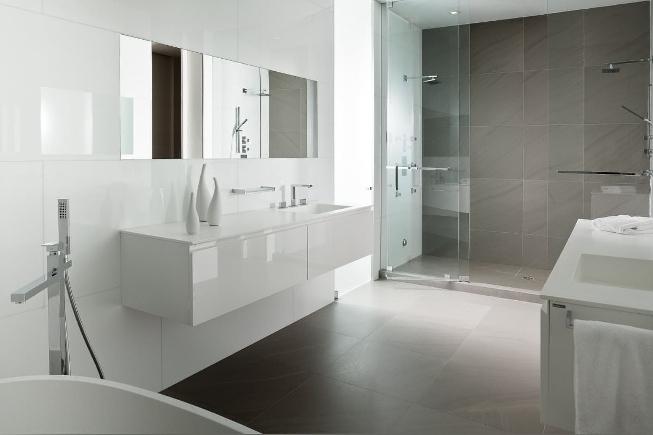 красивая ванна в стиле минимализм