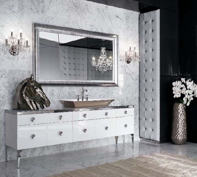 ванная в стиле арт-деко мебель