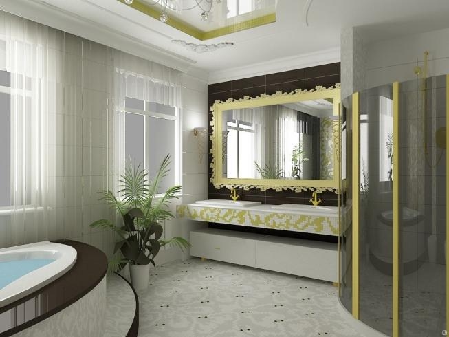 яркая ванная комната 11 кв м